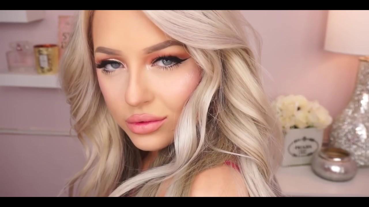 Gold Glitter Cat Eye Makeup Tutorial 2016//Beauty Tips